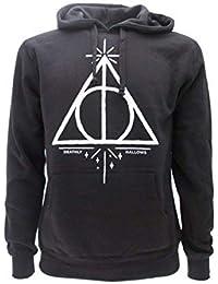 Harry Potterr SUDADERA CON CAPUCHA Hoodie Simbolo de LAS RELIQUIAS DE LA MUERTE - 100%