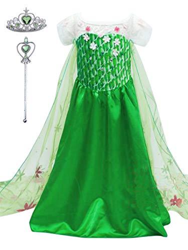 Yonier vestito della principessa anna di frozen,costume da principessa per bambine,abito da regno di ghiaccio per feste a tema,compleanni,ragazze principessa abiti vestito della principessa anna