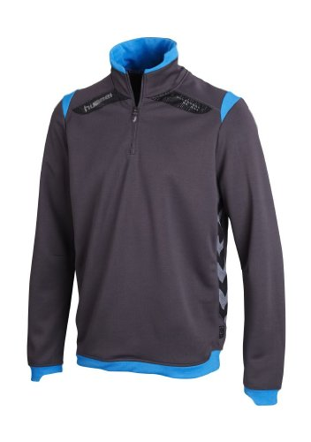 Hummel, Felpa Unisex Technical X 1/2 Zip, Grigio (nine iron / brilliant blue), XXL