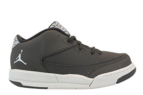 dan Flight Origin 3 BT Sneaker, Black (Schwarz / Metallic Silber-Pure Platinum), 23.5 EU (Jordan Flight Silber)