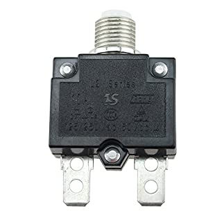 Circuit Breaker, 5A/10A/15A/20A/30AMP AMP Circuit Breaker Waterproof Push Button Resettable Thermal Circuit Breaker Panel Thermal Fuse Circuit Breaker(10A)