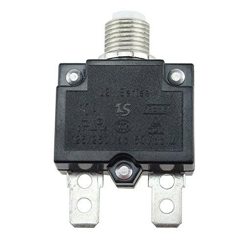 Interruptores de circuito 5A/10A/15A/20A/30Amp con botón de reinicio manual resistente al agua...