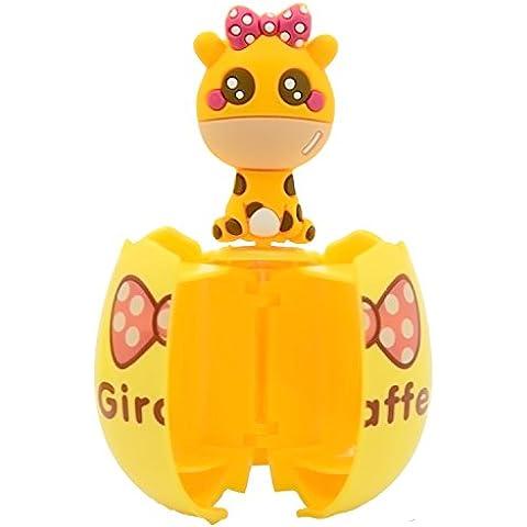 Uovo Forma Fumetto Animale Spazzolino Titolare Rack Stand con Ventosa Due Servizi Igienici Requisiti Giraffe