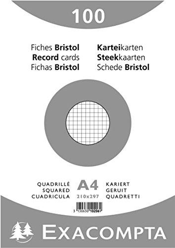 paquet-100-fiches-bristol-sous-film-blanc-quadrille-5x5-non-perfore-210x297mm