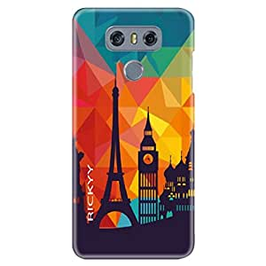 RICKYY Catalog Of Ideas design printed matte finish back case cover for LG G6