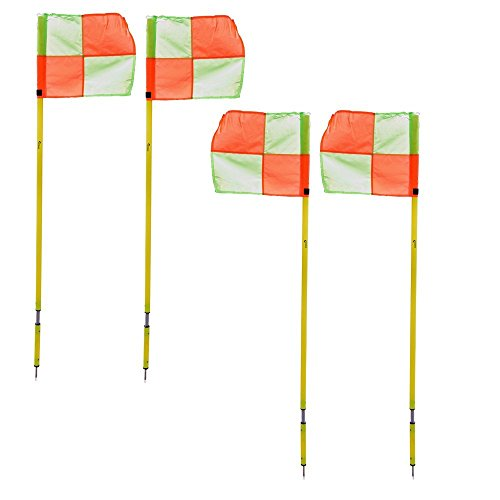 Kosma Satz von 4 Eckfahnen | Fußball Training Eckfahnen mit Pole