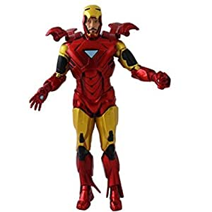 Anokhe Collections Marvel Iron Man With Opening Helmet / Flaps And Hand Gestures 18 Cm Action Figure