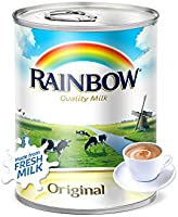 Rainbow Original Easy Open Vitamin D Evaporated Liquid Milk - 410 gm