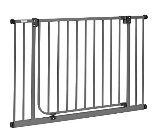 2019 LUNA XXL > keine Verbreiterungen mehr | 75cm extrabreiter Durchgang | Längen 83 - 243cm | ohne Bohren | Automatik-Tür | 90° Feststellfunktion | Türschutzgitter > SW-L