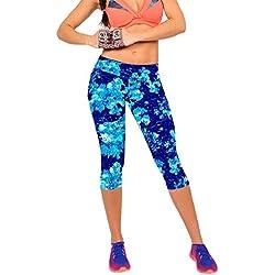 Pantalones mujer deporte Sannysis YOGA Pantalones, Legging Mallas para mujer (Azul, M)