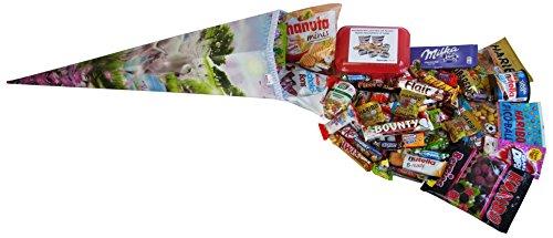 Schultüte Einhorn 85cm gefüllt mit Ferrero Kinder, tic tac, Nutella und weiteren Süßigkeiten 1er...