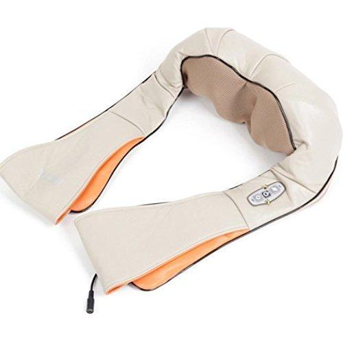 PowerLead Pnma M005Shiatsu Knetmassagegerät für Nacken, Schultern und Rücken, mit UK-Stecker, Anleitung in englischer Sprache Zurück Hand Held Massagegerät