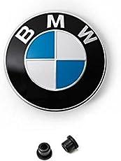 Weiß Blau Ersatz Emblem 82 mm auf der Fronthaube+2xTüllen E32 E34 E36 E38 E39 E46 E90 E60 E61