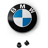 Ersatz Emblem Weiß Blau Motorhaube und Hecklappe 82mm plus 2 Tüllen E32 E34 E36 E38 E39 E46 E90 E91 E60 E61