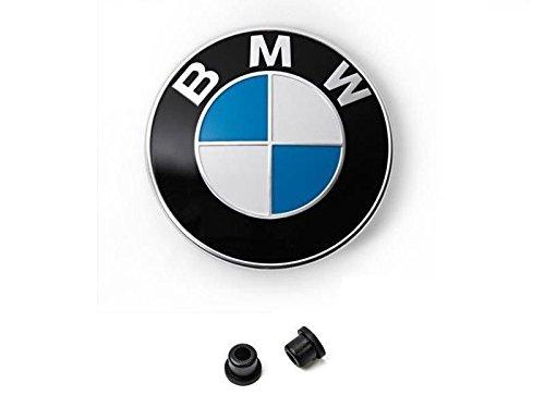 1 Ersatz Emblem Weiß Blau für die Motorhaube oder Hecklappe 82mm plus 2 Tüllen E32 E34 E36 E38 E39 E46 E90 E91 E60