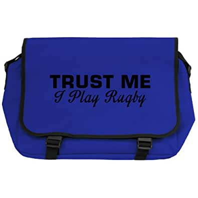 Trust Me I Play Rugby Messenger Bag - Royal Blue