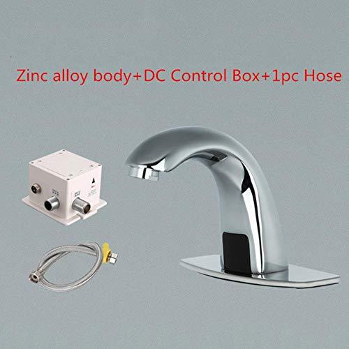 Elektronische Hände Frei Bad Wasserhahn Becken Kaltwasser Touchless Mischer Infrarot Becken Sensor Wasserhahn 4201, Zink- Legierung Dc ()