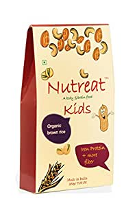 Nutreat kids Brown- natural kids food,homemade-Dry fruits, cereals,Brown rice