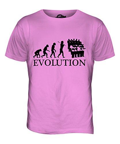 CandyMix Chor Musik Evolution Des Menschen Herren T Shirt Rosa