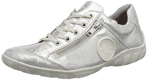 Remonte Dorndorfr3408 - Scarpe da Ginnastica Basse Donna , Argento (Silber (silver / 90)), 44