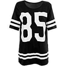 Glamour Babe - Camiseta de fútbol americano para mujer, diseño de número 85, color