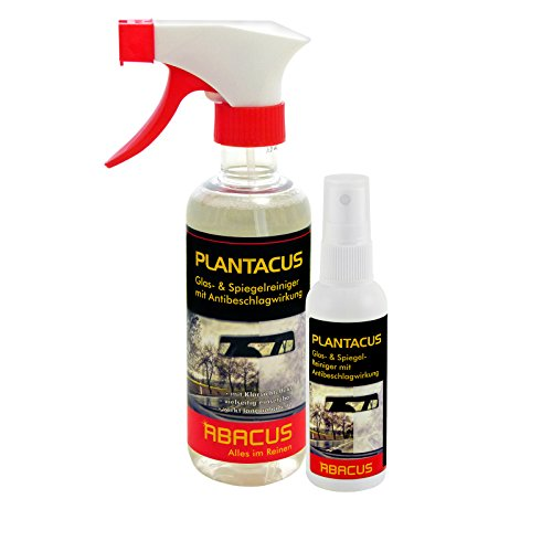 PLANTACUS-Set (7007) - Glas- & Spiegelreiniger mit Scheibenreiniger mit Antibeschlagwirkung (300ml + 75ml) - Antibeschlagspray - Antibeschlagmittel