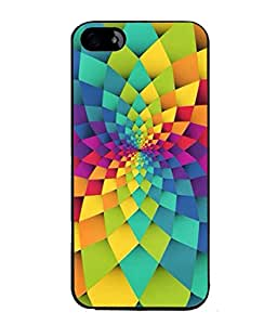 Fuson Designer Back Case Cover for Apple iPhone SE (Rainbow Colours Rangoli Design)