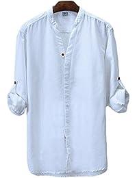 ICEGREY - Camiseta - cuello mao - Manga Larga - para hombre