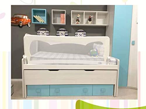 Barrera de cama para bebé, 150 x 65 cm. Modelo Blanco. Barre.