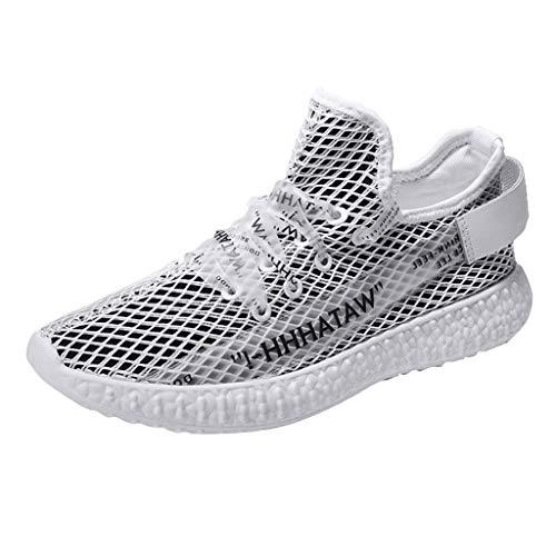 Drift Cat Leder Casual Schuh (TWISFER Flyknit Sportschuhe Herren Sneakers für Männer - Casual Wanderschuhe Mesh Fashion Sneaker Gummiband Lace Up rutschfeste Loafer Athletic Running Gym Outdoor)