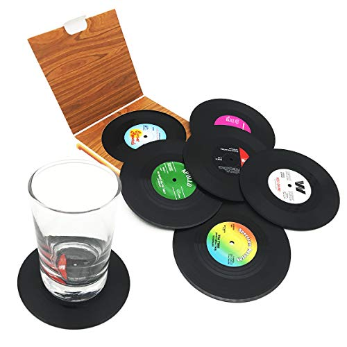 6pz retro CD record di vinile sottobicchieri tazza tappetino per caffè