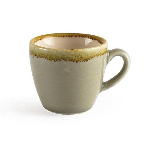 Vivera d'Olympia Gp476 Moss Tasse à espresso, Porcelaine, Vert (lot de 6)