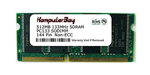 Komputerbay 512MB SDRAM SODIMM (144 Pin) LD 133Mhz PC133 For Dell Latitude C610 P1.0G 512MB Memory Module