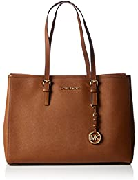 Michael KorsJet Set Travel Saffiano Leather Tote - Bolsa de asa superior, Mujer