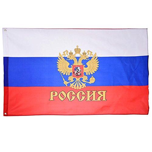 NiceButy 1Pcs 90* 150cm Flagge Nationaler Dekorationen Internationalen Flaggen-Spiel von Ländern für Vereine Sportler, Feier der Vorgang-Bär Flag Nationaler # Flagge Präsidenten Russische #