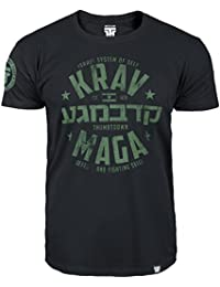 Krav Maga T-shirt. Thumbs Down. Israeli System Of Self Defense and Fighting Skills. MMA T-shirt
