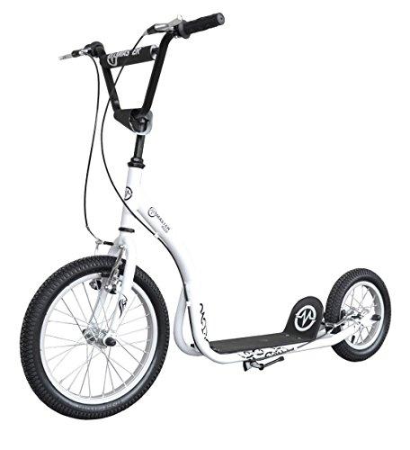 Preisvergleich Produktbild City Roller Master 16 /12 Zoll Scooter Kinder Tretroller weiß