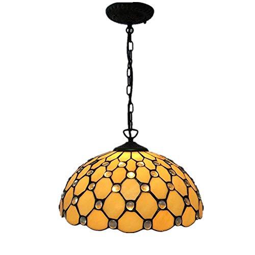 WQ Tiffany Style Pendelleuchte, Glasmalerei Pendelleuchte, verwendet in Esszimmer Flur Schlafzimmer Balkon Veranda Kronleuchter Leuchten -