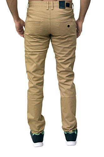 Homme Design Eto Jeans Slim Fuseau Pantalon Chino Pantalon 4 Couleurs Beige - Sable
