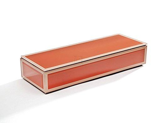 Studio Silversmith Orange en Verre rectangulaire Boîte à Bijoux