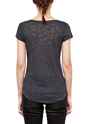 Q/S designed by - s.Oliver Damen T-Shirt asphalt placed print