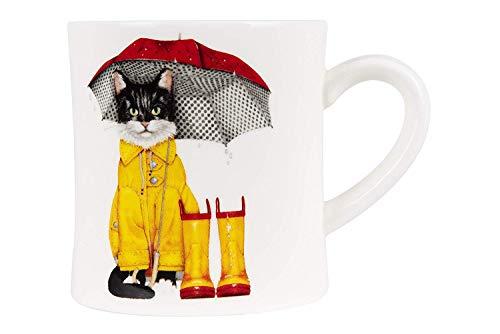 Rainy Day Kitty Cat Kaffeetasse aus Keramik -