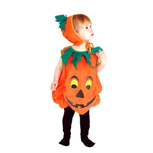 Anzug Kürbis Kostüm - Fenical 2pcs Halloween Kürbis Anzug Kürbis Hut Halloween Party verkleiden Sich Requisiten Kostüm Cosplay für Kinder