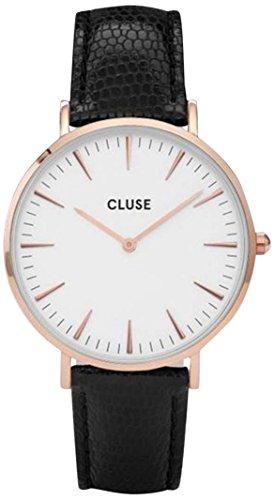 Cluse Damen Analog Quarz Uhr mit Leder Armband CL18037