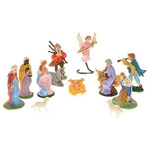 Statuine per presepe (13 pezzi)