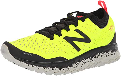 New Balance Fresh Foam Hierro v3, Scarpe da Trail Running Uomo, Giallo (Hi-Lite/Black/Bright Cherry Y3), 44.5 EU