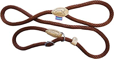 Dog and Co Rope Slip Dog Lead, 150 x 1.4 cm/ 60-inch x 5/8-inch, Brown from DOG & Co