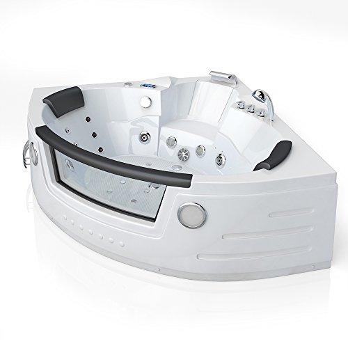 Preisvergleich Produktbild Whirlpool Eckbadewanne Badewanne Wanne 2 Personen Heizung Pool Luxus Fenster