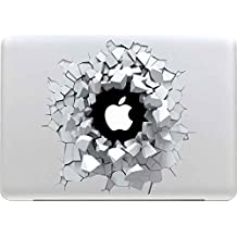 Sticker Adhesivos Macbook, Stillshine Desprendibles Creativo Colorido Art Calcomanía Pegatina para Apple MacBook Pro / Air 13 Pulgadas (Cueva del ladrillo 3D)