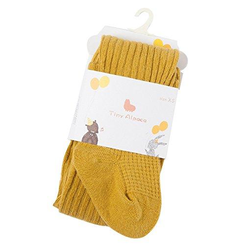hibote Cute Combed Baumwolle Mädchen Strumpfhosen Strumpf Baby Pantyhose Gelb Alter 1-3 Jahre alt (Strümpfe Strumpfhosen Leggings)